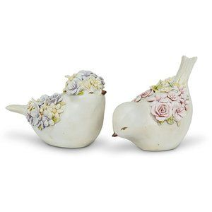 NWT Set of Dipping / Sitting Birds - Resin